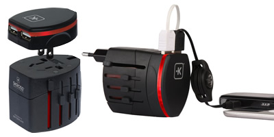 Skross World Travel Adapter 2 With Dual USB Charger